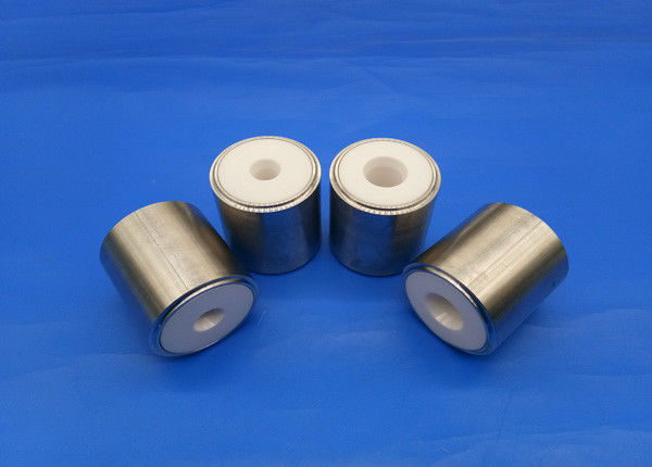 High Pressure Wear Resistant Zirconia Ceramic To Metal Shaft Bearing / Zro2 Sleeve / Bushing​